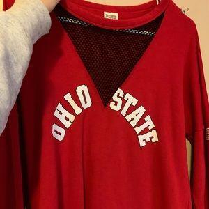Ohio State mesh crew neck